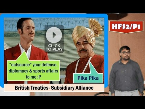 HFS2/P1: British Treaties- Subsidiary Alliance & Lord Wellesley