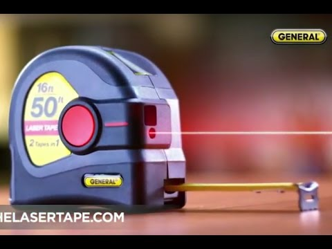 LTM1 2-in-1 Laser Tape Measure - A 50' Laser Distance Measurer w/ a 16' Tape Measure in One Tool