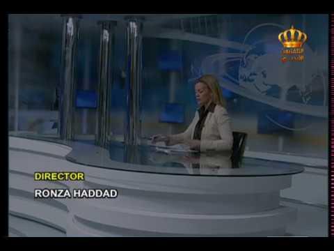 English News at Ten on Jordan Television 22-10-2017