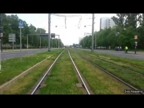 Dresden Tram /Straßenbahn Linie 1: Leutewitz - Prohlis (Rundfahrt)