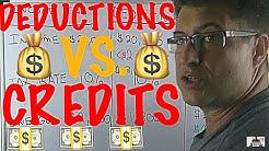 Income Tax  Deductions Vs Tax  Credits / Income Tax Tips #16 / Deductions = Good / Credits = Better