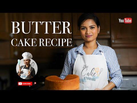 Moist And Fluffy Butter Cake Recipe | The Cake Studios | Cake Tutorial