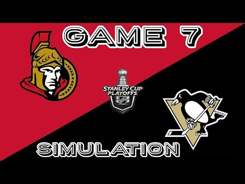 Pittsburgh Penguins vs Ottawa Senators Game 7 NHL 17 Simulation (PS4)