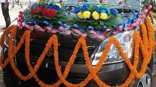 Beautiful गुलदस्ता फुल और पत्ते का और गाड़ी का सजावट देखें kalakaar jhaksh