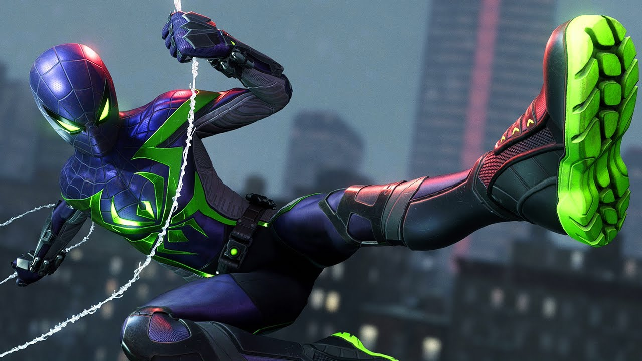 Image result for miles morales ps5 purple reign suit