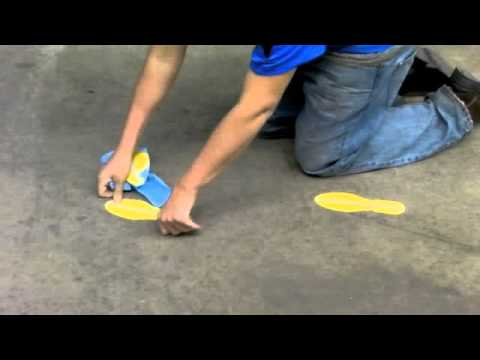 Mighty Line 5s Floor Tape Footprints Youtube