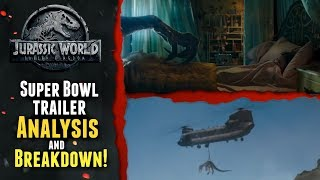 New Jurassic World Fallen Kingdom Super Bowl Trailer Analysis and Breakdown by Klayton Fioriti