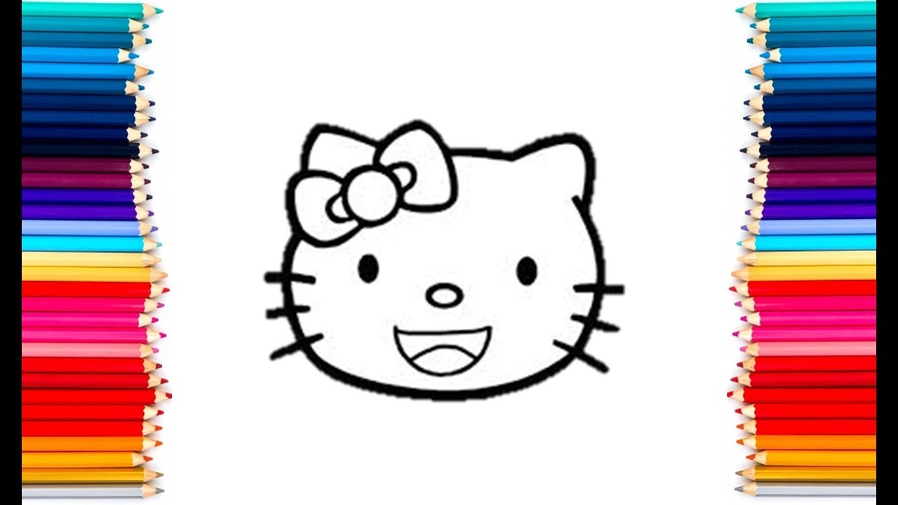 Hello Kitty Head Coloring Pages : Hello kitty smiley face coloring pages how to color hello kitty