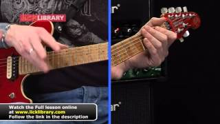Van Halen Mean Street  Guitar Lesson Tapping Intro with Jamie Humphries Licklibrary