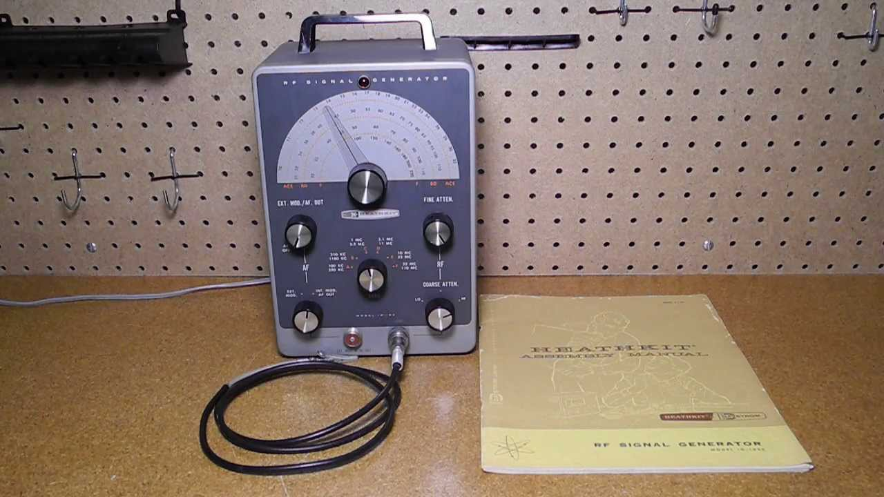 Heathkit Signal Generator : The heathkit ig rf signal generator youtube