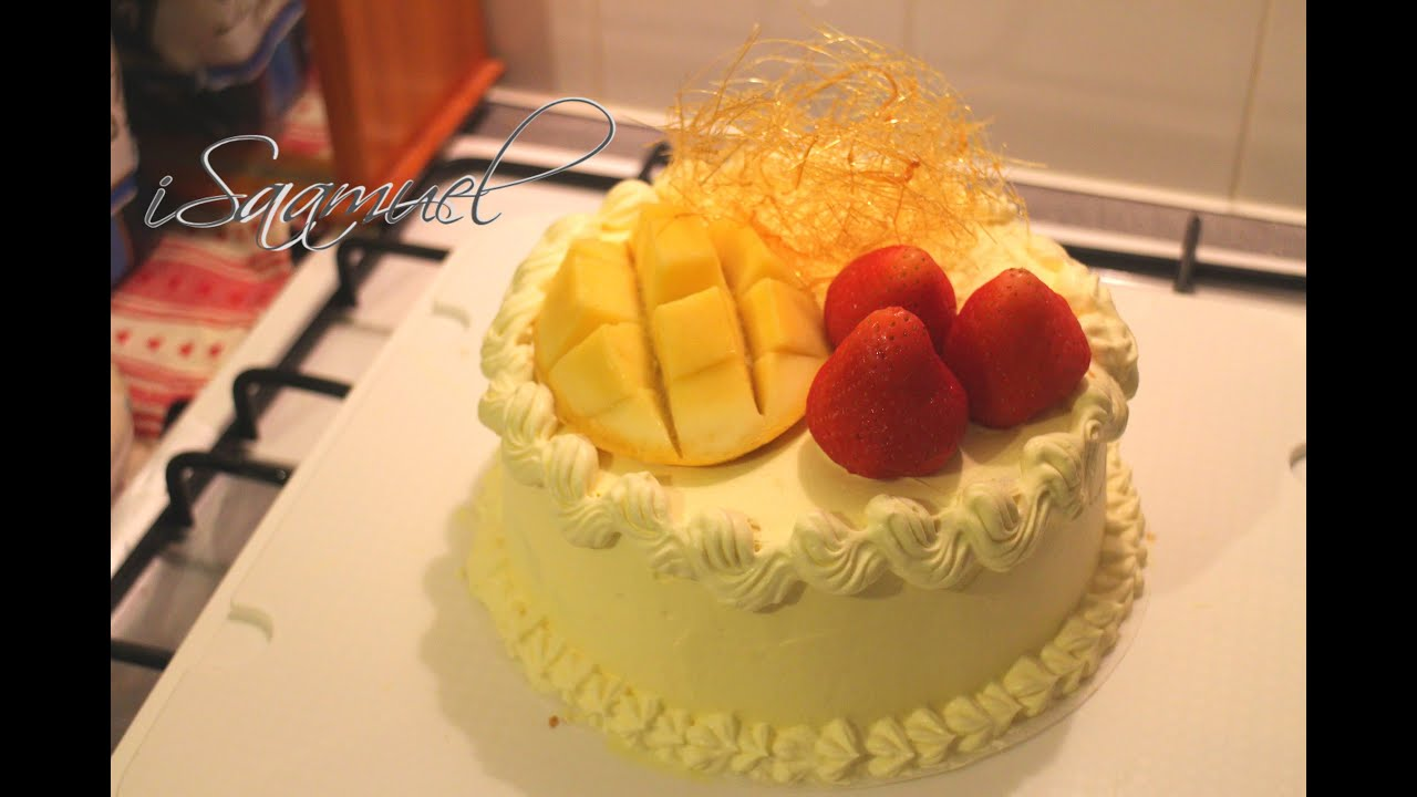 Fresh Fruit and Cream Birthday Cake Recipe YouTube