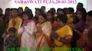 SARASWATI PUJA AT AIR FORCE STATION YELAHANKA ,KARNATAKA,INDIA ON( 28 -1 -2012)
