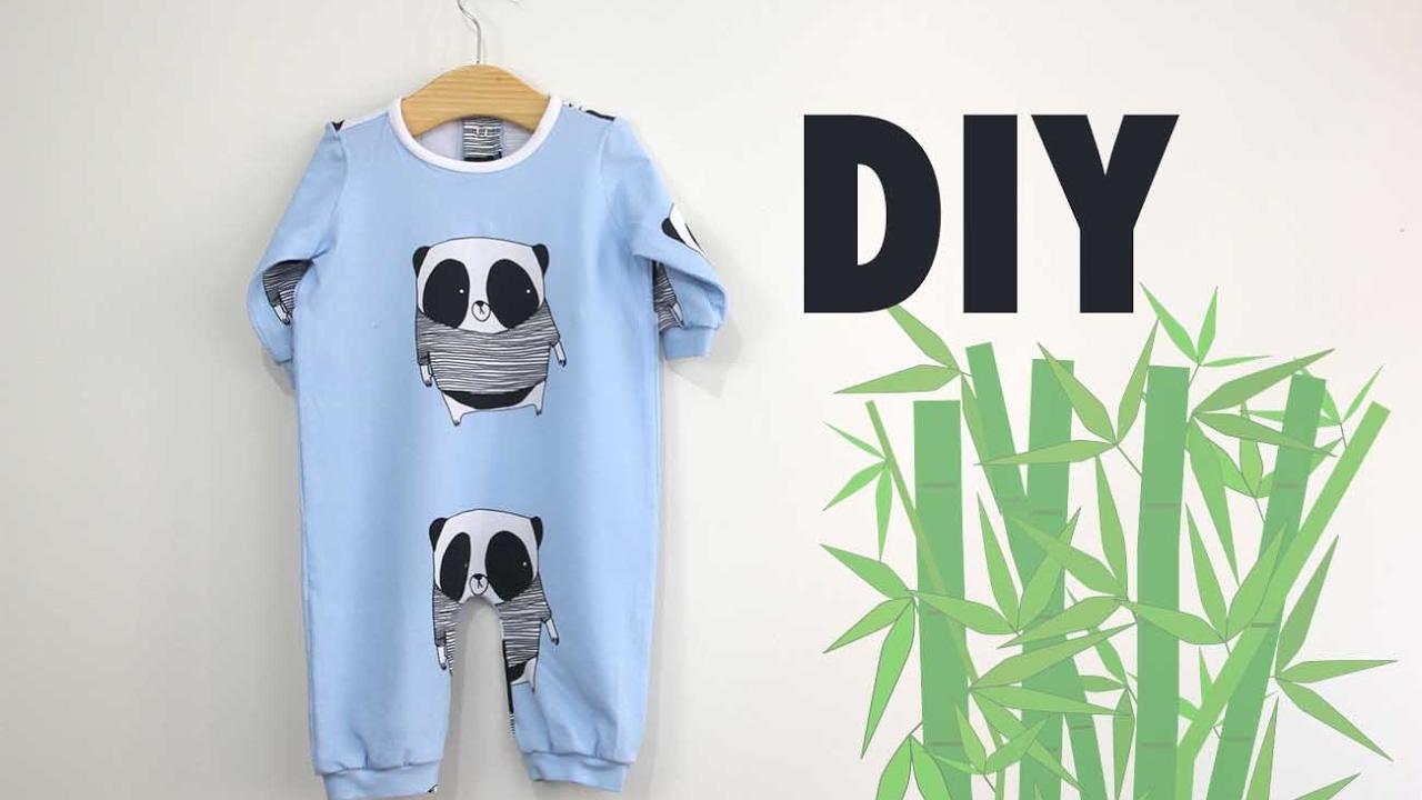 ad357891dc DIY Costura  Cómo hacer pijama de bebe (patrones gratis) - YouTube