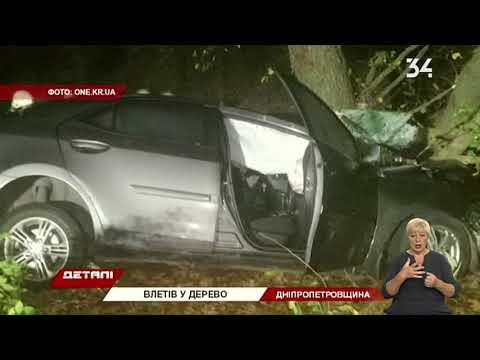 В Широковском районе Toyota влетела в дерево: есть погибшие и пострадавшие