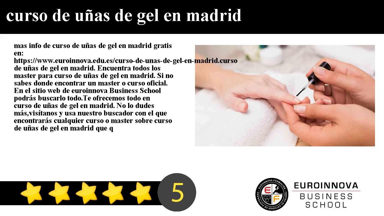 Curso De Uñas De Gel En Madrid