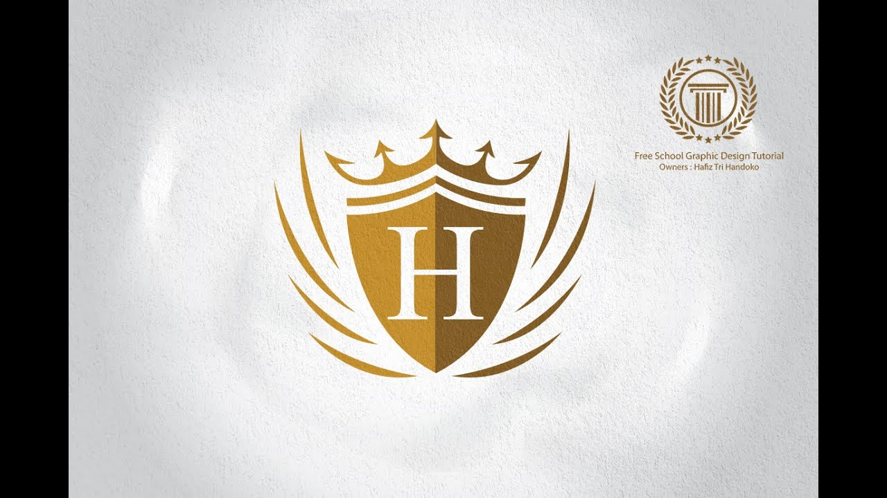 Adobe Illustrator Cs6 Logo Design Tutorial For Beginners How To Create Royal Crown Logo Youtube