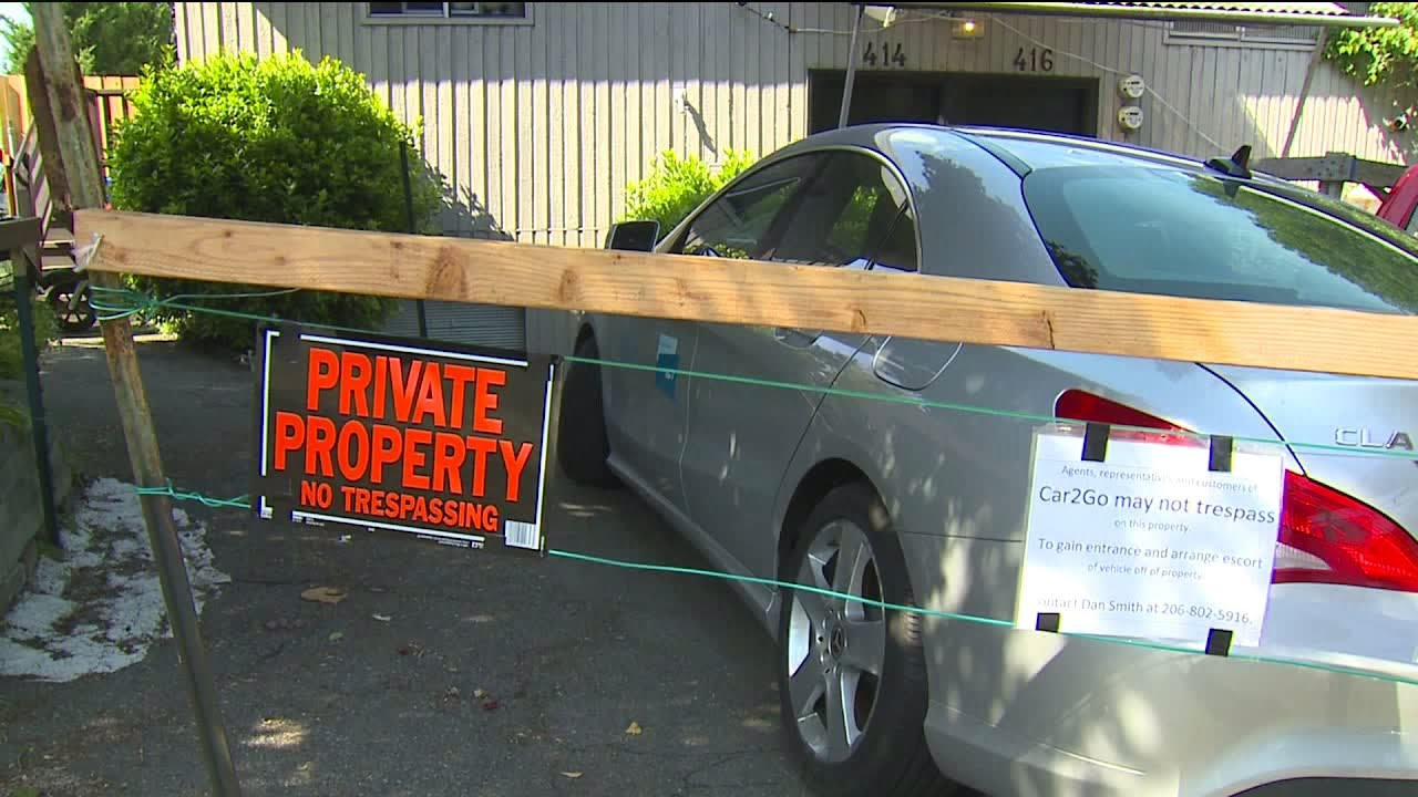 Seattle Man Fences In Car2go Vehicle Parked In Driveway Youtube