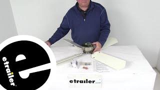 etrailer   Review of LaSalle Bristol RV Ceiling Fans - Standard Ceiling Fan - 344410TSDC42BNWH