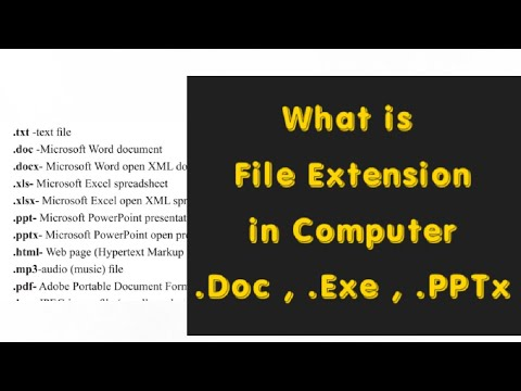 What is file and File extension in computer