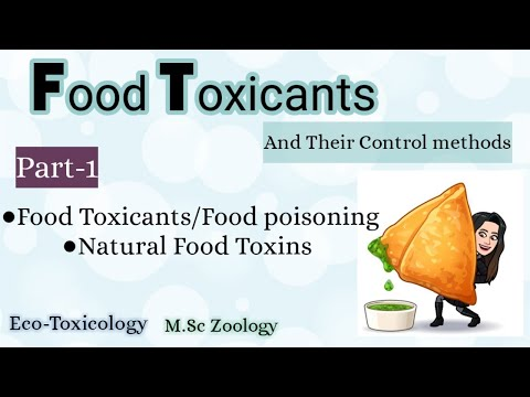 Part-1 Natural Food Toxins -Food Toxicants and their Control Methods  Eco- Toxicology  M.Sc zoology