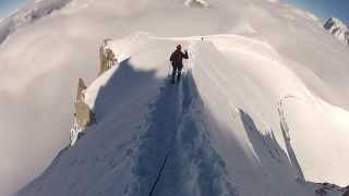 Mont Blanc - from Aiguille du Midi to Col du Midi (September 2013) [HD]