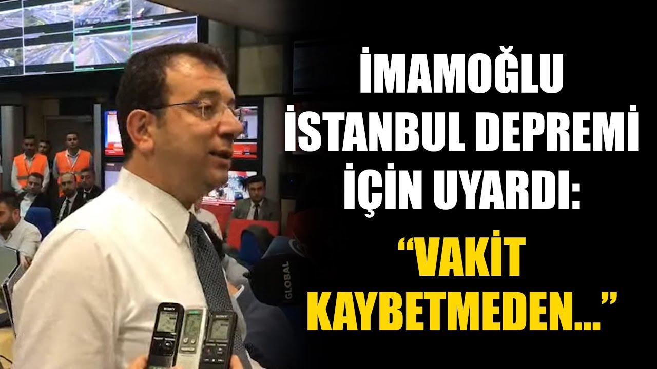 Ekrem İmamoğlu İstanbul Depremi için uyardı: Vakit Kaybetmeden…