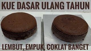 Cake dasar ulang tahun blackforest / brownies