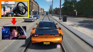 If Han from Tokyo Drift played Forza Horizon 4! (Steering Wheel + Pro Pedals Gameplay)