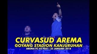 CURVASUD AREMA GOYANG STADION KANJURUHAN SAAT AREMA VS PSIS 25 JANUARI 2018