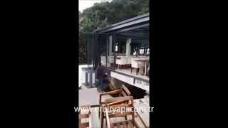 Erbir Yapı- Movable Glazed Retractable Folding Sliding Aluminium Doors