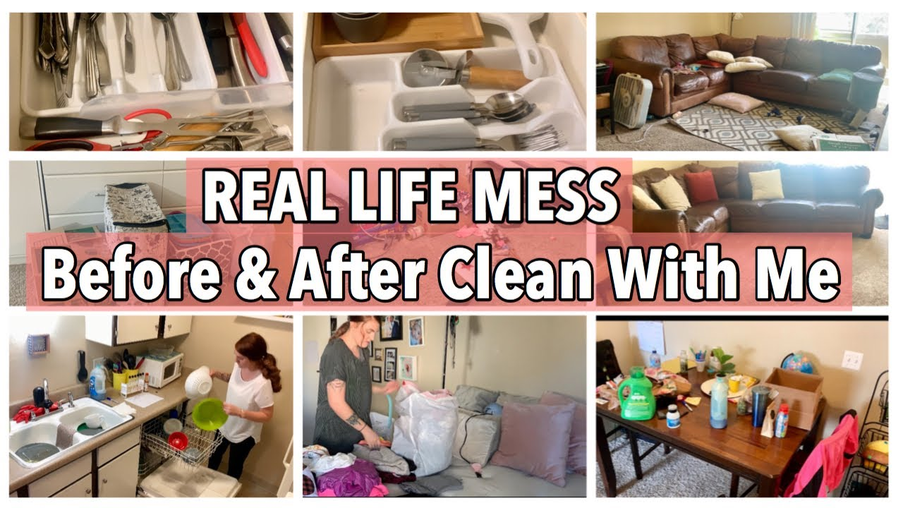 BEFORE & AFTER CLEANING MOTIVATION {REAL LIFE MESS} Stephanie McQueen Cleaning