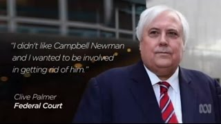 Clive Palmer's security detail jostles with media outside court