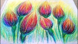 Wax Crayons Drawing