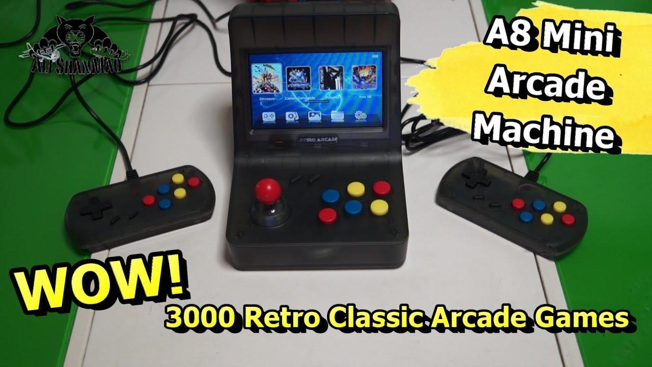 A8 Retro Arcade Game Console Gaming Machine 3000 Games