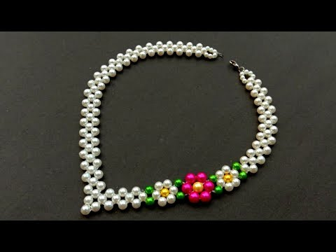 How To Make//A Beautiful Pearl Necklace//At Home// Useful & Easy