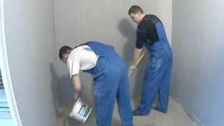 Выравнивание пола. Технология заливки полов с Ivsil(Обучающее видео. Устройство наливного пола своими руками в квартире (в ванной комнате) под плитку, ламинат,..., 2009-11-24T22:44:00.000Z)