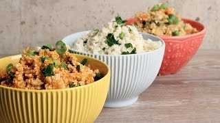 Cauliflower Rice 3 Ways