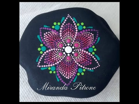 how to paint a dot art mandala ~ Pink ombre colors ~ by Miranda Pitrone