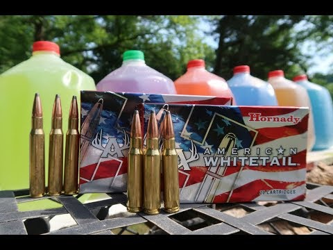 308 Vs 30-06 - HOW MANY MILK JUGS??? - Hornady American Whitetail