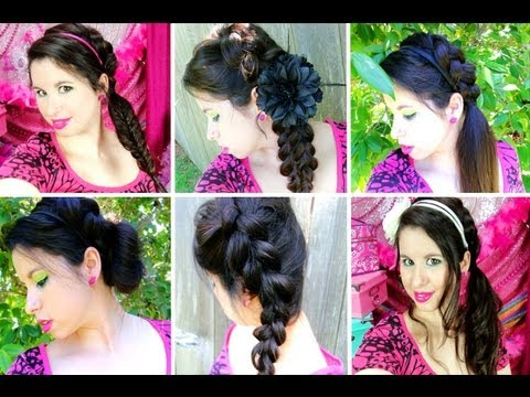 7 Easy Braided Hairstyles For Summer Amp School YouTube