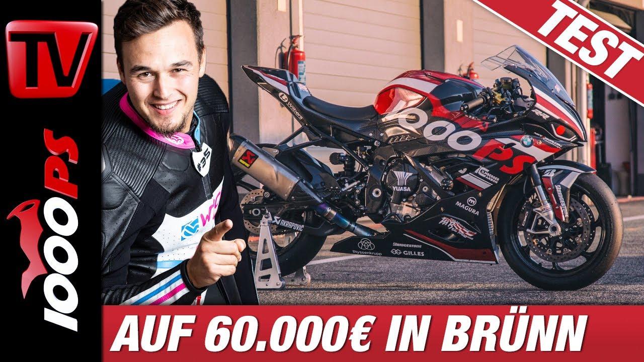 So fährt ein 60.000€ Bike! 🔥😲 Matthias testet das 1000PS BMW S 1000 RR TuneUp