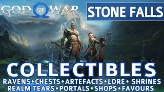 God of War - Stone Falls All Collectible Locations (Ravens, Chests, Artefacts, Shrines) - 100%