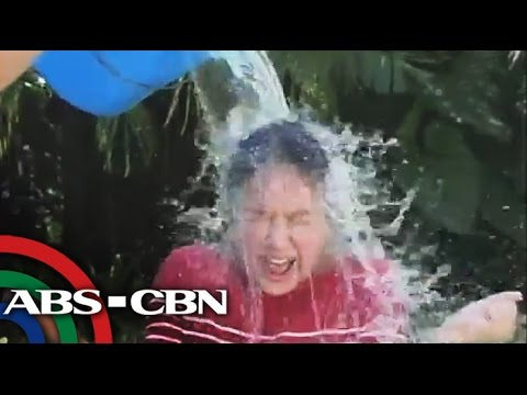 Korina, Doris accept ice bucket challenge