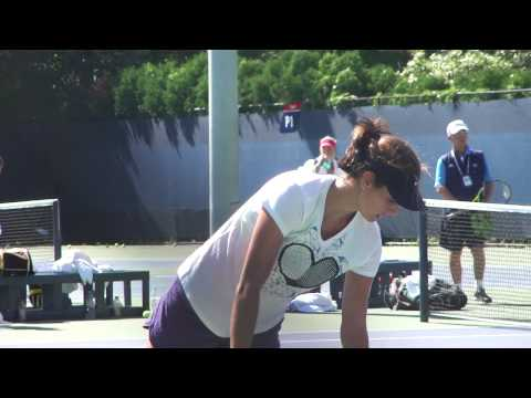 Goerges Practicing at 2012 US Open