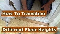 How To Make A Transition Between Floor Heights From Tile And Wood