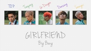 Cover images GIRLFRIEND - BIG BANG (빅뱅) [HAN/ROM/ENG COLOR CODED LYRICS]
