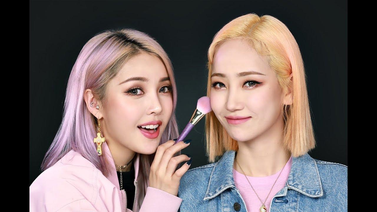 PONY X HA:TFELT Soft Burgundy Makeup (With subs) 포니 X 핫펠트 소프트 버건디 메이크업