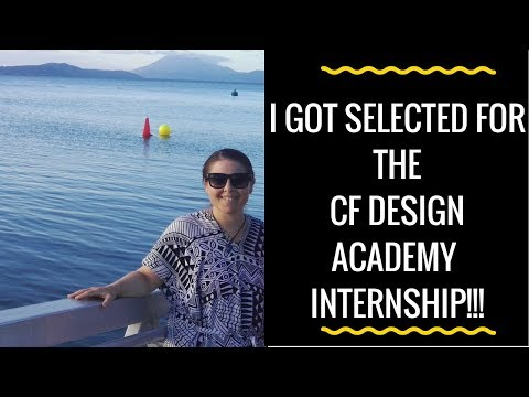 CF Design Academy Internship - I got in!