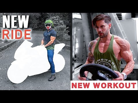 I COULDN'T RESIST! CUSTOM RIDE REVEAL + HIGH PACE MUSCLE BUILDING WORKOUT
