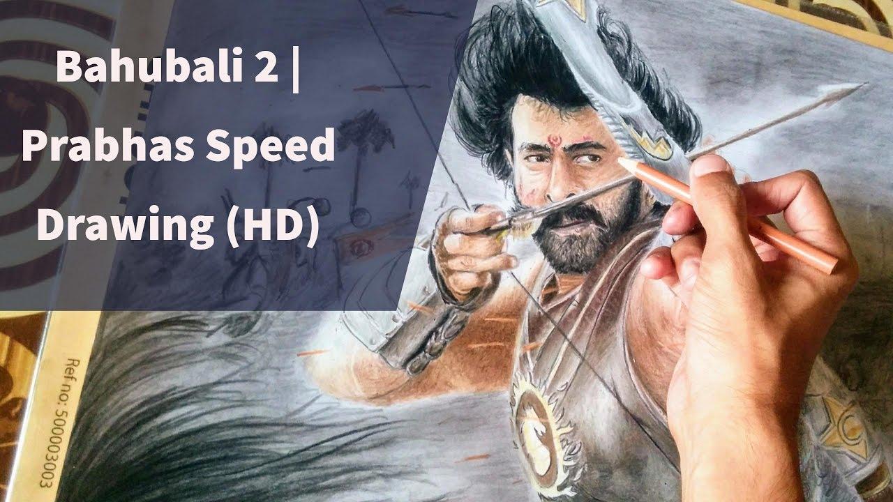 Bahubali 2 Ss Rajamouli Movie Prabhas Speed Drawing Hd